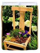 Tan Chair Planter Duvet Cover