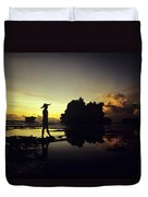 Tanah Lot Temple Duvet Cover