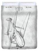 Tandem Biplane Patent Duvet Cover