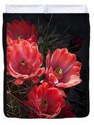 Tangerine Cactus Flower Duvet Cover