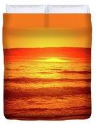 Tangerine Sunset Duvet Cover