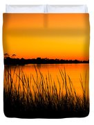Tangerine Sunset Duvet Cover