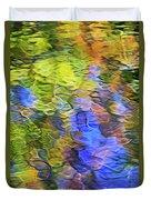 Tangerine Twist Mosaic Abstract Art Duvet Cover
