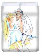 Tango Nuevo - Gancho Step - Dancing Illustration Duvet Cover