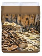 Tanneries Of Fes Morroco Duvet Cover