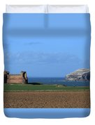 Tantallon Castle And The Bass Rock Duvet Cover