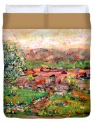 Taos By The River Duvet Cover