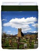 Taos Pueblo Cemetery Duvet Cover