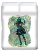 Tap Dancer 1 - Green Duvet Cover