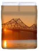 Tappan Zee Bridge At Sunset I Duvet Cover