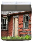 Tar-paper House Door And Windows Duvet Cover