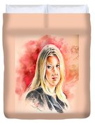 Tara Summers In Boston Legal Duvet Cover