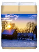 Tarchomin Sunset Duvet Cover by Tomasz Dziubinski