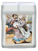 Tariff Cartoon, 1896 Duvet Cover