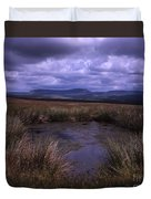 Tarn On The Slopes Of Whernside With Pen-y-ghent On The Horizon Yorkshire Dales England Duvet Cover