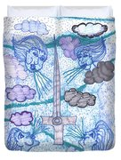 Tarot Of The Younger Self Ace Of Swords Duvet Cover