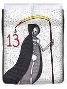 Tarot Of The Younger Self Death Duvet Cover