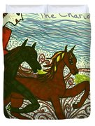Tarot Of The Younger Self The Chariot Duvet Cover