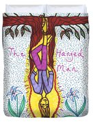 Tarot Of The Younger Self The Hanged Man Duvet Cover