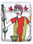 Tarot Of The Younger Self The Magician Duvet Cover