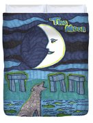 Tarot Of The Younger Self The Moon Duvet Cover