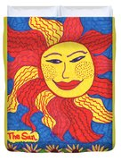 Tarot Of The Younger Self The Sun Duvet Cover