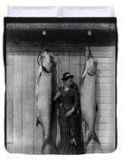 Tarpon Fishing 19th Century  Duvet Cover