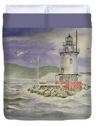Tarrytown Lighthouse From The South Duvet Cover