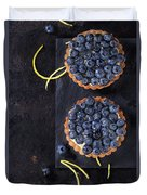 Tartlets With Blueberries Duvet Cover