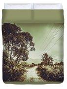 Tasmania Country Roads Duvet Cover