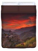 Tatev Monastery At Dawn Duvet Cover