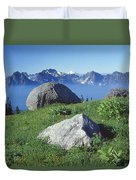 1m4862-tatoosh Range And Mt. St. Helens  Duvet Cover