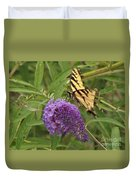 Tattered Tiger Swallowtail Butterfly          August         Indiana Duvet Cover