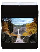 Taughannock In Autumn Duvet Cover