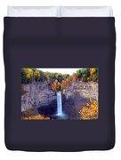 Taughannock Waterfalls In Autumn Duvet Cover