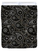 Taupe Brown Paisley Design Duvet Cover