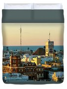 Tavira Tower And Post Office From West Tower Cadiz Spain Duvet Cover