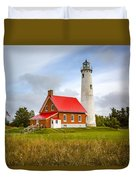 Tawas Point Lighthouse - Lower Peninsula, Mi  Duvet Cover