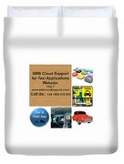 Taxi Booking Application Duvet Cover