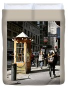 Taxi Booth Duvet Cover