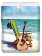 Taylor At The Beach Duvet Cover