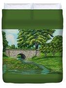 Taylor Lake Stone Bridge Duvet Cover