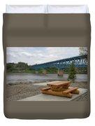 Taylor Peace River Bridge Duvet Cover