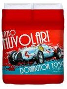 Tazio Nuvolari Auto Union D Donnington 1939 Duvet Cover