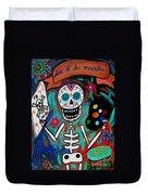 Te Amo Painter Dia De Los Muertos Duvet Cover