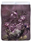 Tea And Roses Duvet Cover