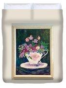 Tea Cup Bloom Duvet Cover