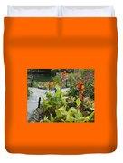 Tea Garden At San Antonio Zoo Crosswalk Duvet Cover
