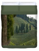 Tea Garden In Darjeeling Duvet Cover