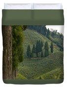 Tea Garden In Darjeeling Duvet Cover by Atul Daimari